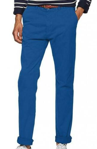 Scotch & soda stuart stretch twill chino met riem