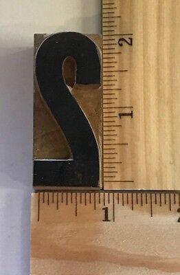 Vintage Antique Wood Metal Printer Printing Press Block Number 2 684a