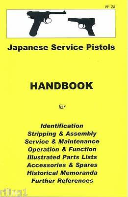 Japanese Nambu Types 14 & 94 Service Pistols Assembly, Disassembly Manual No. 28