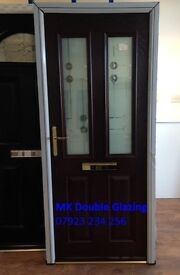 BRAND NEW Rosewood Composite Front Door with Rosewood Frame