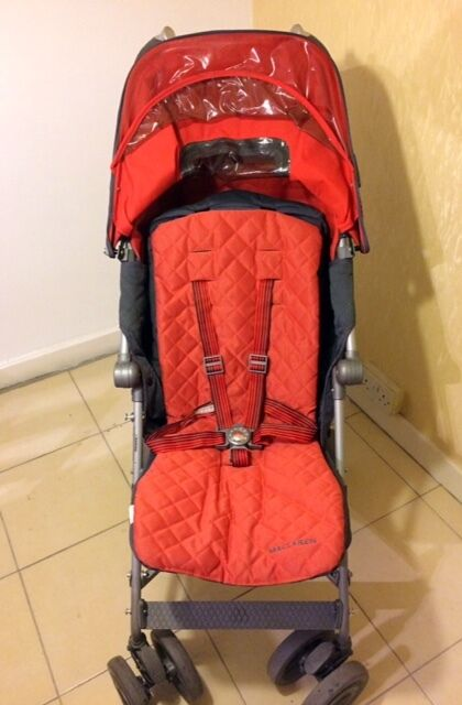 VERY new Maclaren Techno XT Stroller for sale - Charcoal/Orange