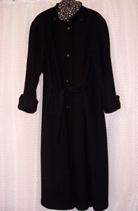 LADIES BLACK LONG WINTER COAT