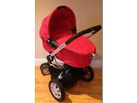 PRAM/BUGGY 'QUINNY BUZZ' IN STRAWBERRY RED, GOOD CONDITION £150 ONO