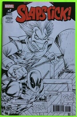 SLAPSTICK #1 ROB LIEFELD SKETCH VARIANT COVER 1:100 DEADPOOL MARVEL COMIC BOOK](Deadpool Comic 1)