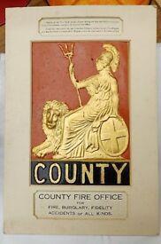Replica County Fire Mark