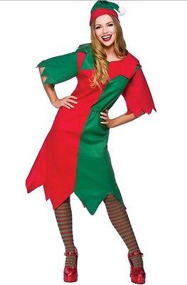 Lady Elf Santa's Helper Christmas Xmas Costume Plus Size XL 18-22 ()