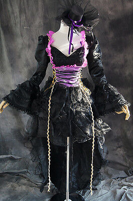 a-111 S/M/L/XL/XXL VOCALOID MIKU HATSUNE Cosplay Kostüm GOTHIC costume (Hatsune Miku Kostüm)
