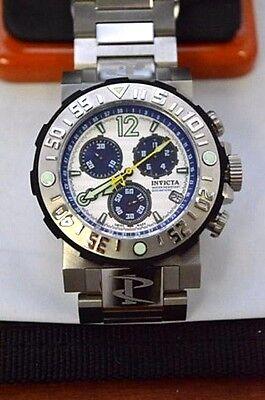 W276-Invicta 6130 Men's Reserve Sea Rover Blue Accents Silver Dial Steel Band