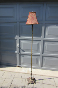 "Beautiful 70"" Tall Vintage Brass Floor Lamp"