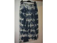 ladies long denim tie dyed skirt size 16