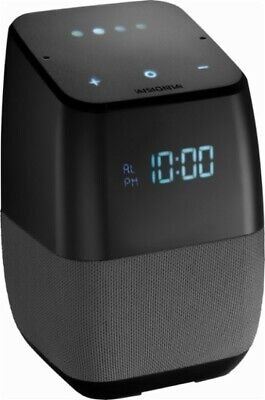 Insignia Smart Bluetooth Speaker and Alarm Clock with Voice to Google Assistant