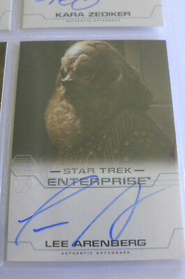 Star Trek Enterprise Season 4 Lee Arenberg As Gral Auto Autograph Card