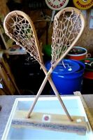Indian crafted Lacrosse stick set display