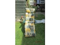 Set of two Garden Recliner Sun Loungers with cushions