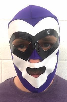 EL FANTASMA Wrestling Mask Halloween Fancy Dress Costume Lucha Libre Adult LILAC - Fantasma Halloween