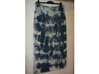 ladies long denim tie dyed skirt size 16