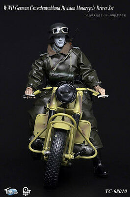 "Used, Toys City 1/6 Scale 12"" WWII German Motorcycle Driver Grossdeutschland Set 68010 for sale  Fall River"