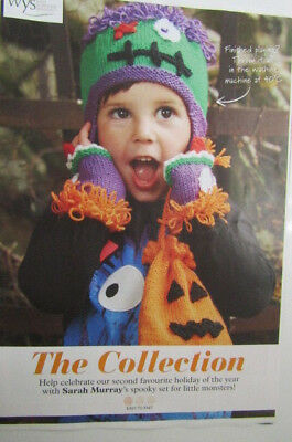 Childrens spooky halloween set for monsters [magazine extract] knitting pattern](Halloween Crafts For Girls)