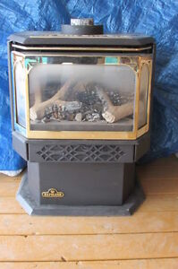 Like New Napoleon Freestanding Direct Vent gas Fireplace