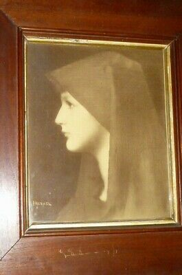 Old Picture Jean Jacques Henner Holy Fabiola Portrait Print Painting? Painting
