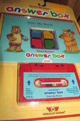 UNUSED Teddy Ruxpin  Answer Box Book & Tape  Color My World