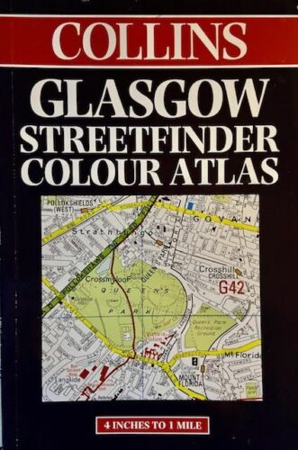Glasgow Streetfinder Color Atlas, Scotland, by Collins Map
