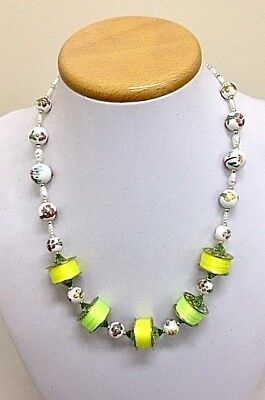 Threaded Bobbin Necklace Handmade One of A Kind for sale  Shipping to United Kingdom