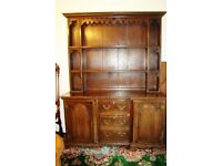 Old Welsh dresser in great condition. Pick up only from near Leatherhead, Surrey