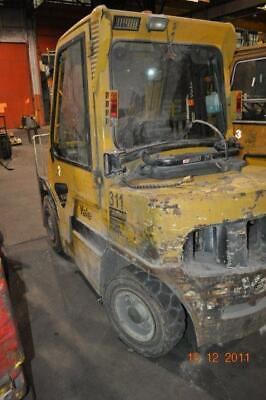 7250 Lb Yale Forklift Lp Gas 42 Forks Triple Mast 186 Lift Height Side Shift