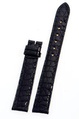 BOUCHERON Krokodil Uhrenarmband 15 mm Leder Schwarz