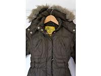 Girls brown padded coat NEXT (7-8 years)