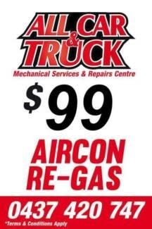 $99 Aircon Regas!