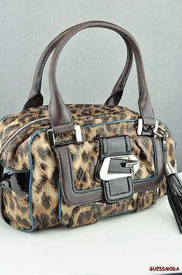 FREE Ship USA Handbag GUESS LINDSEY Satchel Bag MOCHA Ladies Chic