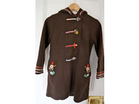 Girls brown winter coat by DPAM (age 8)