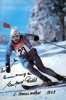 Alpine Böden (Eberhard Riedel (DDR) Mister Ski Alpin DDR Adelboden original signiert/signed !!)