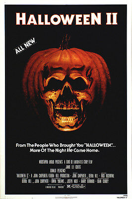 Home Wall Art Print - Vintage Movie Film Poster - HALLOWEEN 2 - - Vintage Halloween Home Movies
