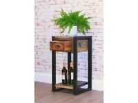 Java Industrial Low Plant Stand / Lamp Table - Brand New