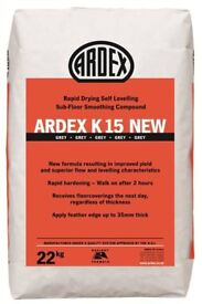 ARDEX K15 SCREED RAPID DRYING AND SELF LEVELLING