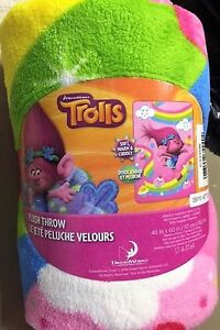 NEW Trolls Throw never been used or opened