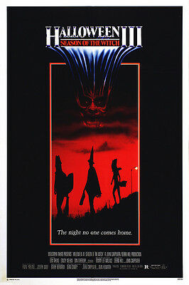 Home Wall Art Print - Vintage Movie Film Poster - HALLOWEEN 3 - - Vintage Halloween Home Movies