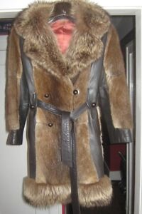 Real fur and leather coat, and Mink Stole