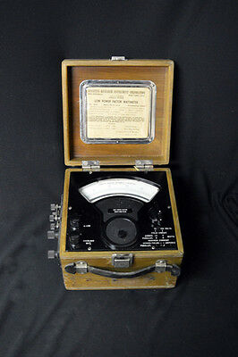 Vintage Sensitive Research Instrument Corp Low Power Factor Wattmeter Model Dlw