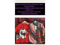 Boys long sleeve T-Shirts - Age 3-4