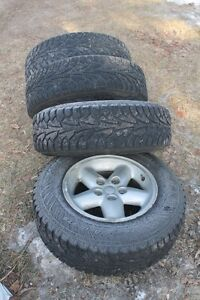 Kuhmo Winter Tires on Jeep Rims 205 / 75 /15s