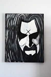 One of a kind Rob Zombie oil on canvas.