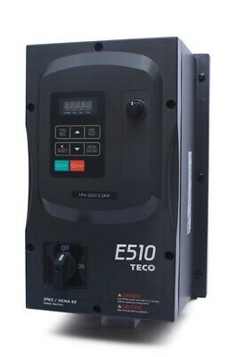 3 Hp 1 Phase 230v Teco Nema 44x12 Variable Frequency Drive E510-203-h1fn4s-u