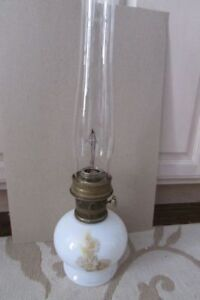 Aladdin Lamp-Milk Glass Daisy & Wheat Mod 23 Kerosene