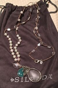 Silpada Pearl, Quartz & Sterling Silver Necklace West Island Greater Montréal image 1