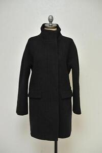 J Crew Stadium Cloth Cocoon Coat 8 Black $325