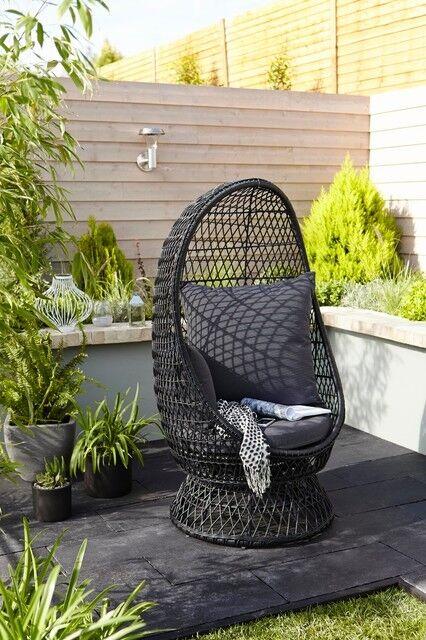 Anya Rattan Effect Egg Chair